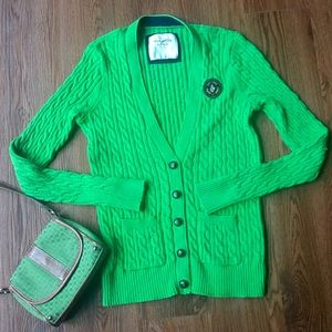 Abercrombie & Fitch Green Academia Cardigan
